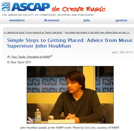 ASCAP John Houlihan