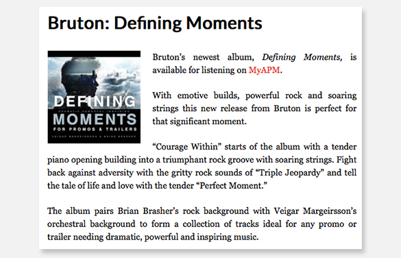 Trailer Music News Reviews Defining Moments