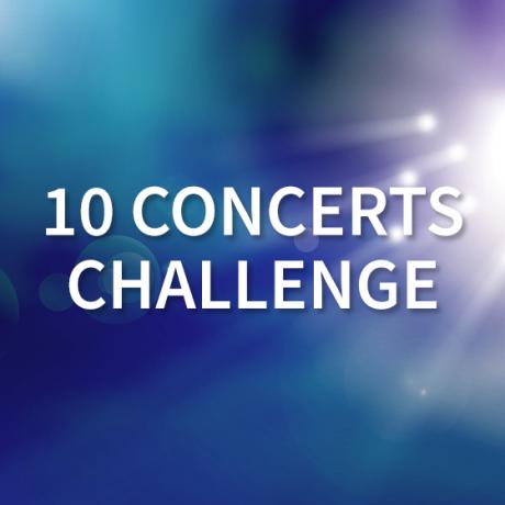 10 Concerts Challenge