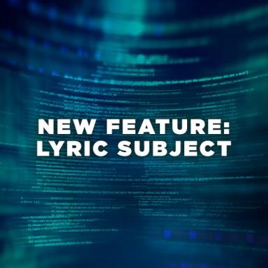 Website Feature - Lyric Subject Filter